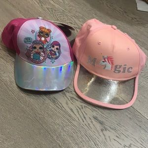 2 girls hats NWT